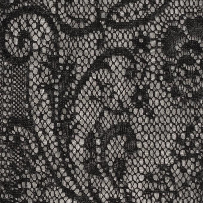 アクリル&ウール混×フラワー(ライトグレー&ブラック)×メッシュニット&ラッセルレース イメージ1