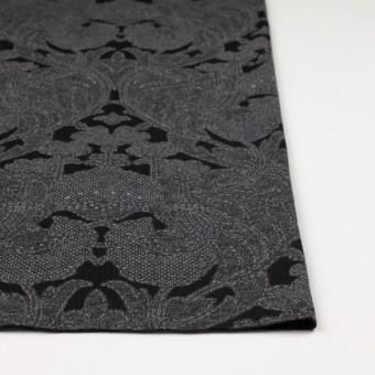 ポリエステル&レーヨン混×フラワー(チャコールグレー&ブラック)×ジャガード天竺ニット サムネイル3