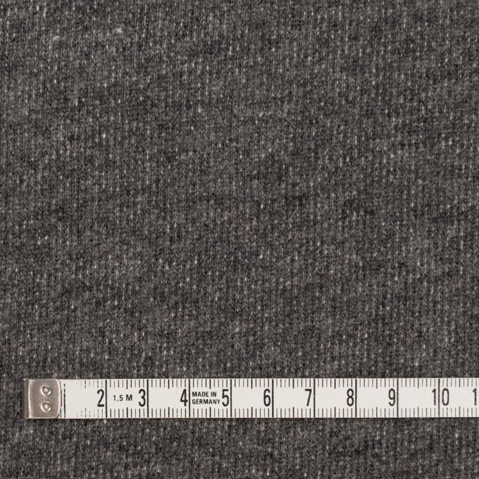 コットン&ウール×無地(チャコールグレー)×裏毛ニット イメージ4