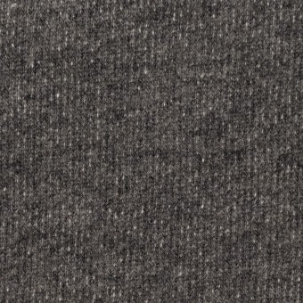 コットン&ウール×無地(チャコールグレー)×裏毛ニット サムネイル1