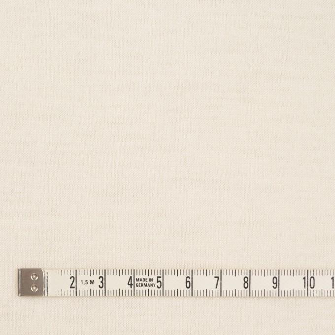 ウール×無地(クリーム)×天竺ニット イメージ4