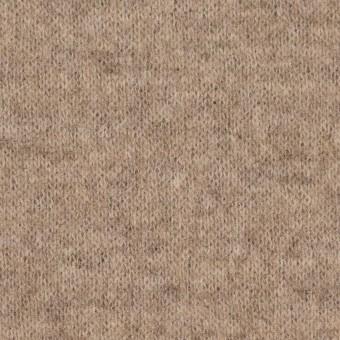 ウール&ナイロン×無地(ベージュ&ブラウン)×W天竺ニット_全2色 サムネイル1