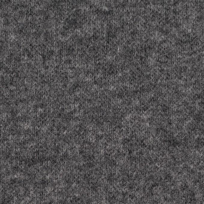 ウール&ナイロン×無地(チャコールグレー&ブラック)×W天竺ニット_全2色 イメージ1
