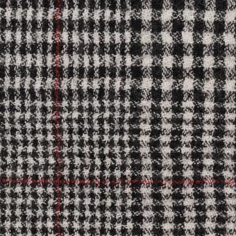 ウール×チェック(オフホワイト&ブラック)×ガーゼ サムネイル1