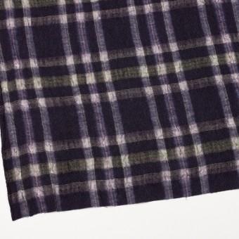 ウール&ポリエステル×チェック(ダークパープル)×ガーゼ_全3色 サムネイル2