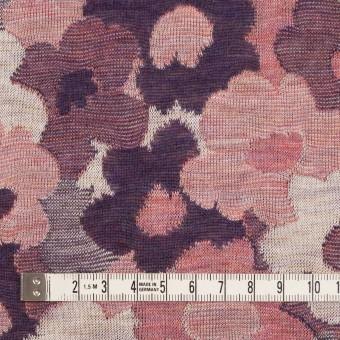 コットン×ポリエステル×フラワー(グレイッシュピンク&パープル)×Wニットジャガード サムネイル4