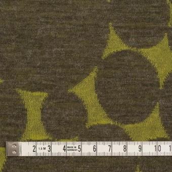 ウール&ポリエステル×オーバル(イエローグリーン&カーキ)×Wニットジャガード サムネイル4