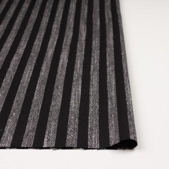 ウール&テンセル混×ストライプ(シルバーグレー&ブラック)×ヘリンボーン サムネイル3