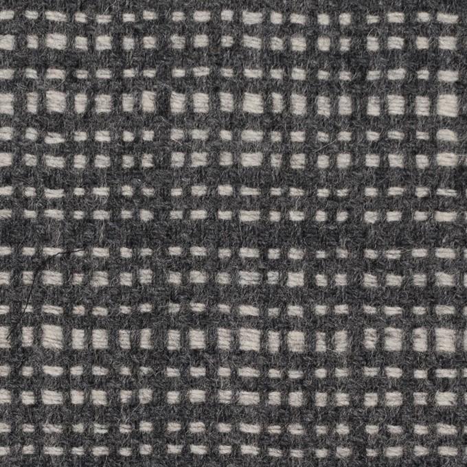ウール&ポリエステル混×チェック(グレー)×ツイード イメージ1