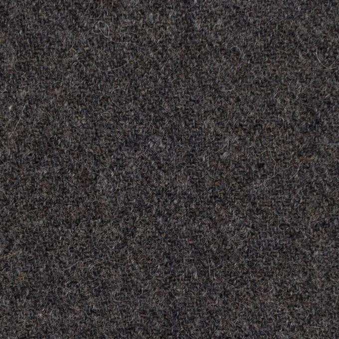 ウール×無地(チャコールグレー)×ヘリンボーン イメージ1