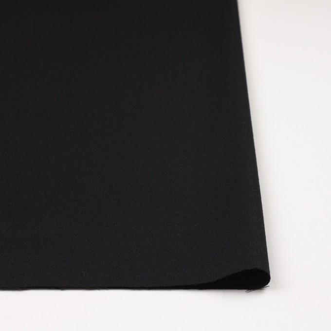 ウール×無地(ブラック)×ジョーゼット イメージ3