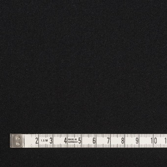 ウール×無地(ブラック)×ジョーゼット サムネイル4