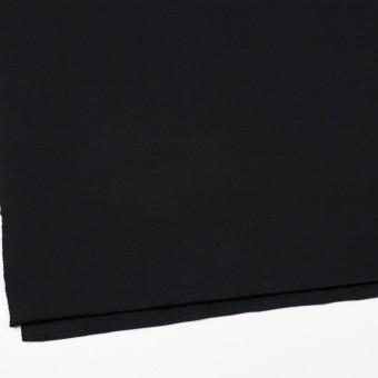 コットン&ポリエステル×無地(ブラック)×裏毛ニット(裏面起毛) サムネイル2
