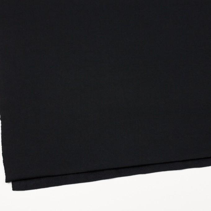 コットン&ポリエステル×無地(ブラック)×裏毛ニット(裏面起毛) イメージ2