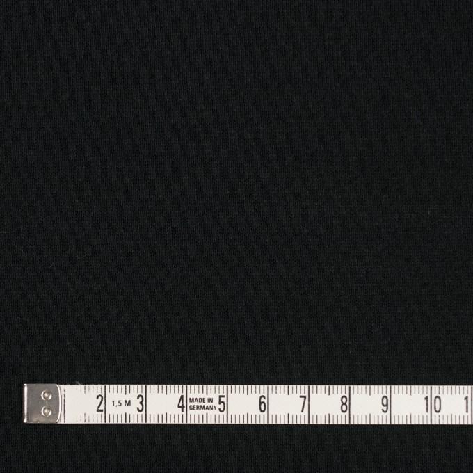 コットン&ポリエステル×無地(ブラック)×裏毛ニット(裏面起毛) イメージ4