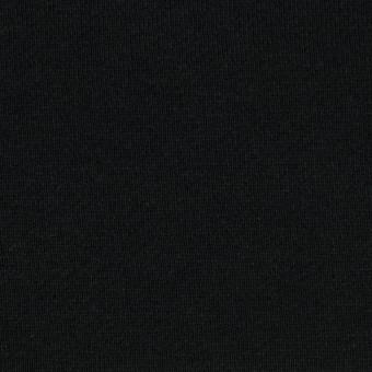 コットン&ポリエステル×無地(ブラック)×裏毛ニット(裏面起毛) サムネイル1