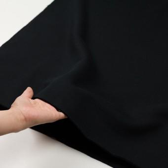 コットン&ポリエステル×無地(ブラック)×裏毛ニット(裏面起毛) サムネイル5