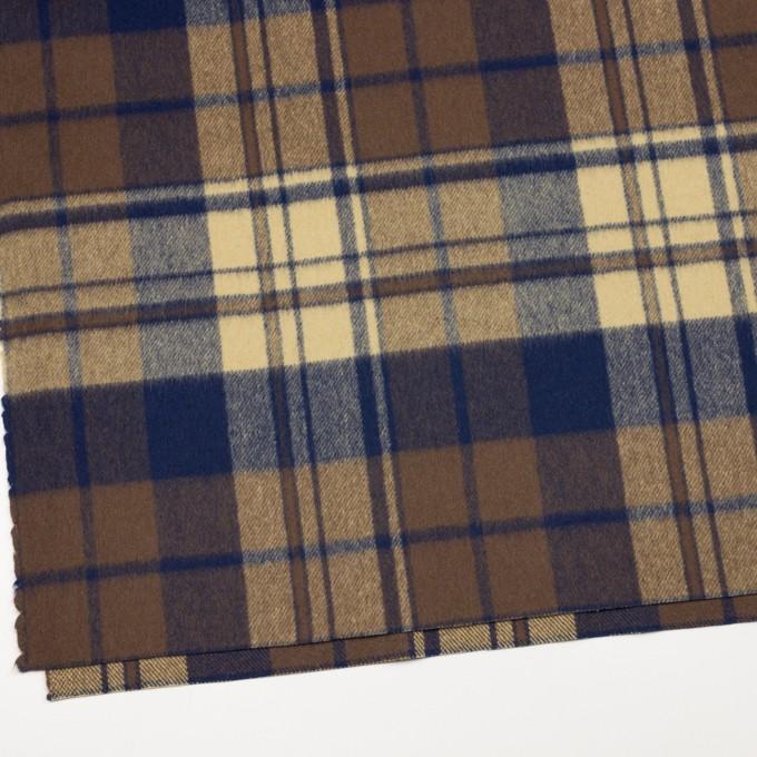 ウール&ナイロン×チェック(カスタード&ブラウン)×フラノ(フランネル) イメージ2