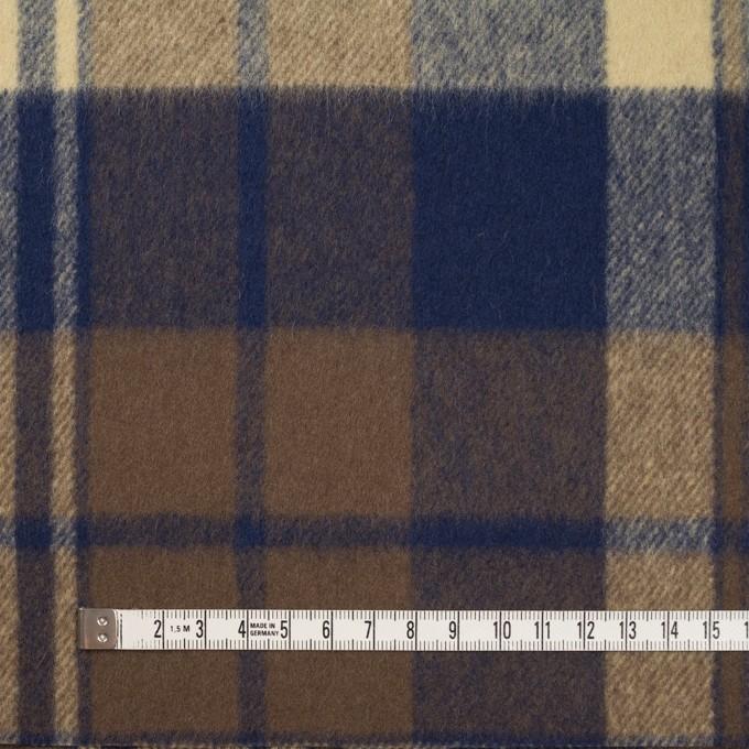 ウール&ナイロン×チェック(カスタード&ブラウン)×フラノ(フランネル) イメージ5