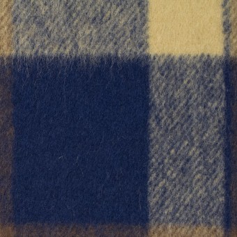 ウール&ナイロン×チェック(カスタード&ブラウン)×フラノ(フランネル) サムネイル1