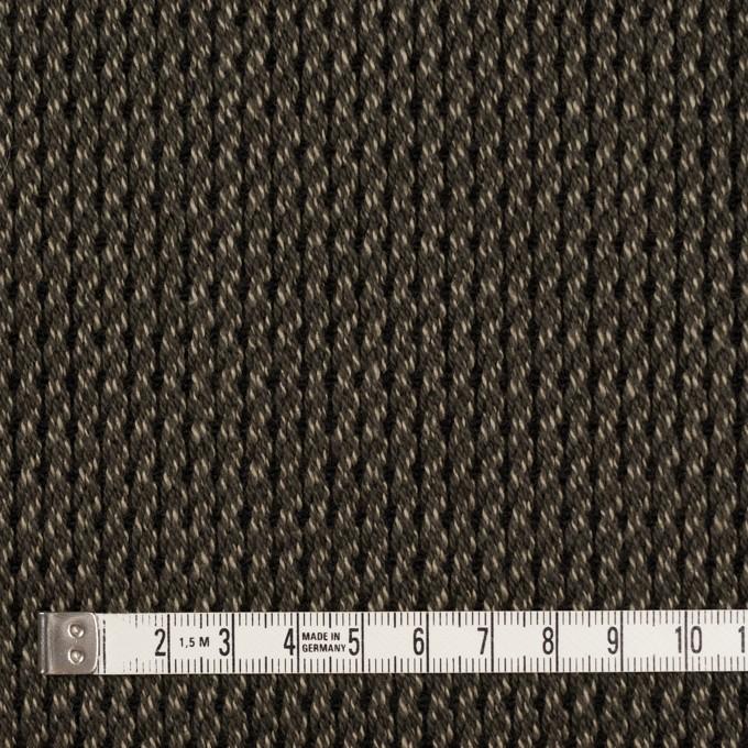 アクリル&コットン混×ミックス(カーキ)×かわり織 イメージ4
