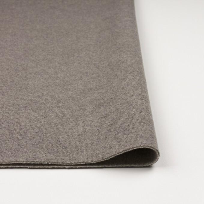 ウール&ポリアミド×無地(グレイッシュベージュ&アッシュグレー)×Wフェイス圧縮天竺ニット_イタリア製 イメージ3