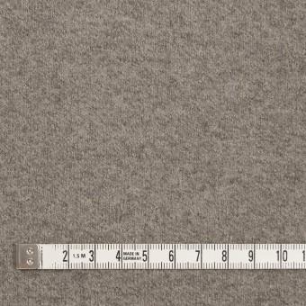 ウール&ポリアミド×無地(グレイッシュベージュ&アッシュグレー)×Wフェイス圧縮天竺ニット_イタリア製 サムネイル4