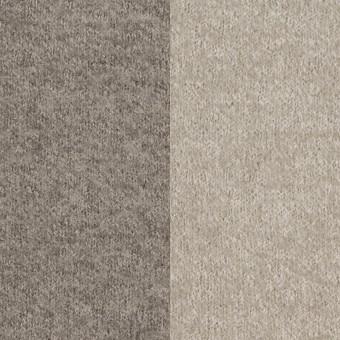 ウール&ポリアミド×無地(グレイッシュベージュ&アッシュグレー)×Wフェイス圧縮天竺ニット_イタリア製 サムネイル1