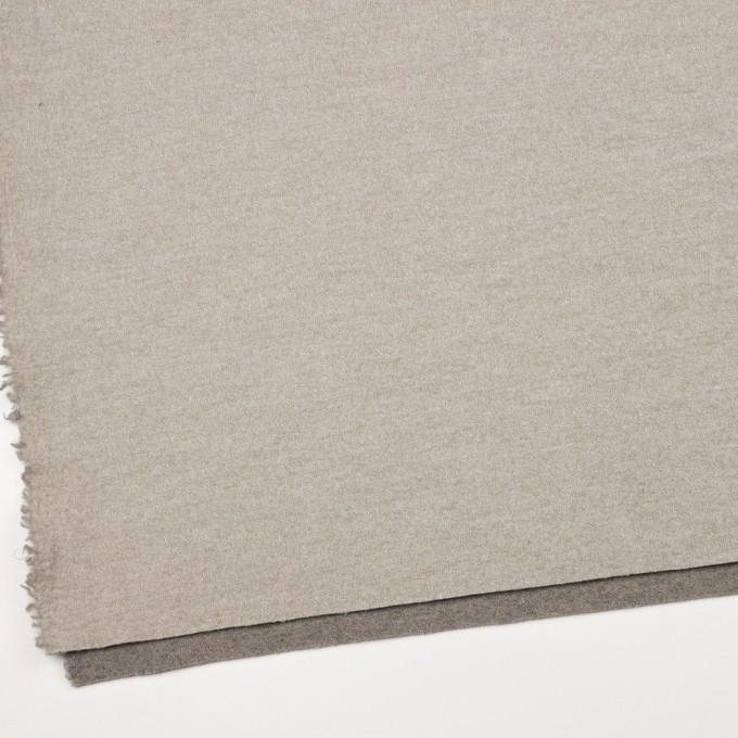 ウール&ポリアミド×無地(グレイッシュベージュ&アッシュグレー)×Wフェイス圧縮天竺ニット_イタリア製 イメージ6