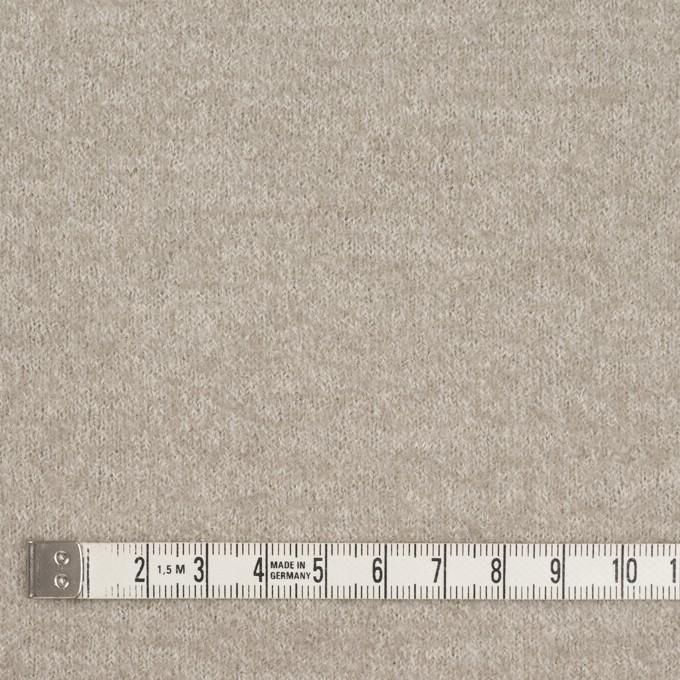 ウール&ポリアミド×無地(グレイッシュベージュ&アッシュグレー)×Wフェイス圧縮天竺ニット_イタリア製 イメージ8