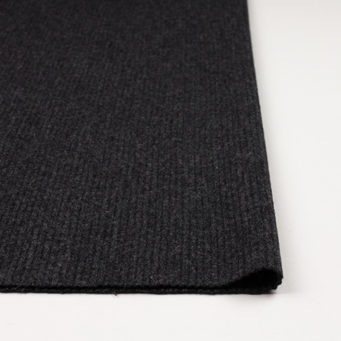ウール×無地(チャコールグレー)×圧縮リブニット_全2色 イメージ3