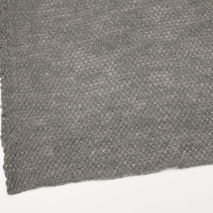コットン&ウール×無地(グレー)×かわり編みニット イメージ2