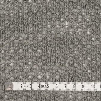 コットン&ウール×無地(グレー)×かわり編みニット サムネイル4