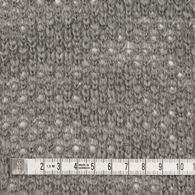 コットン&ウール×無地(グレー)×かわり編みニット イメージ4