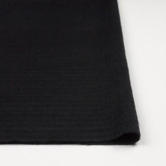 ウール&アクリル混×無地(ブラック)×シャギー サムネイル3