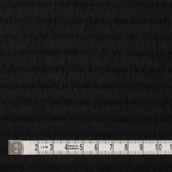 ウール&アクリル混×無地(ブラック)×シャギー サムネイル4
