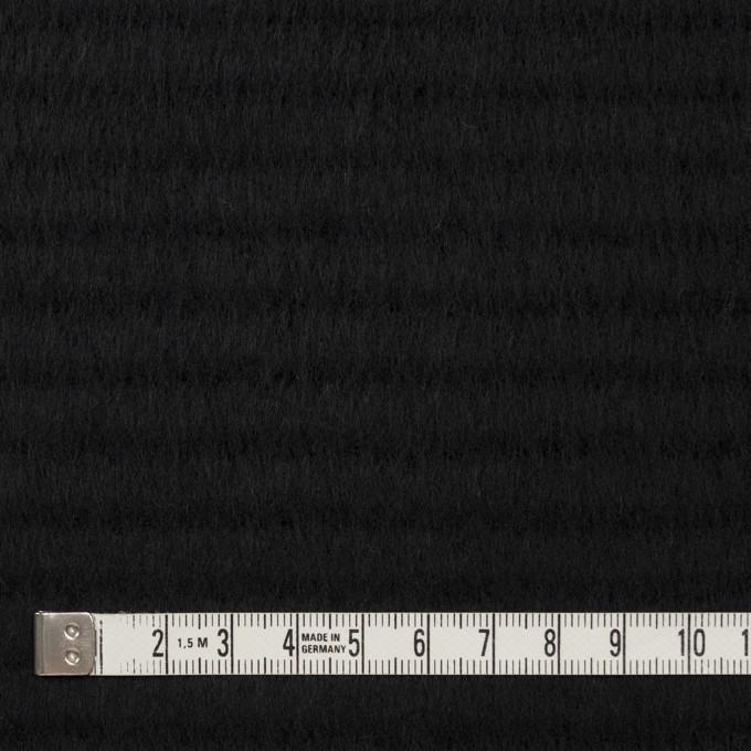 ウール&アクリル混×無地(ブラック)×シャギー イメージ4