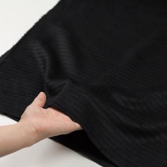 ウール&アクリル混×無地(ブラック)×シャギー サムネイル5