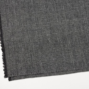 ウール&ナイロン×チェック(チャコールグレー)×かわり織 サムネイル2