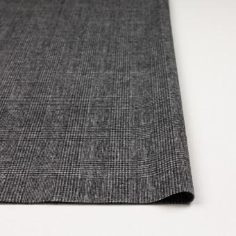 ウール&ナイロン×チェック(チャコールグレー)×かわり織 サムネイル3