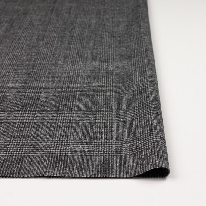 ウール&ナイロン×チェック(チャコールグレー)×かわり織 イメージ3