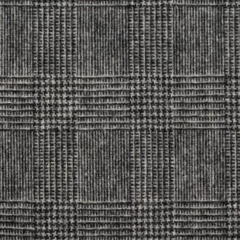 ウール&ナイロン×チェック(チャコールグレー)×かわり織 サムネイル1
