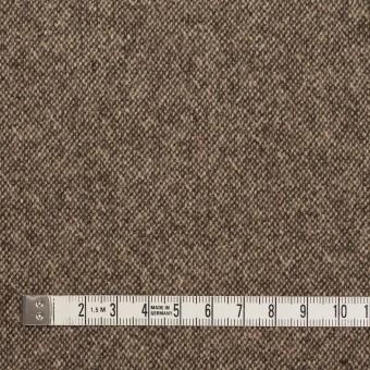 ウール&ポリエステル混×無地(キナリ&ブラウン)×ツイードストレッチ_全5色 サムネイル4