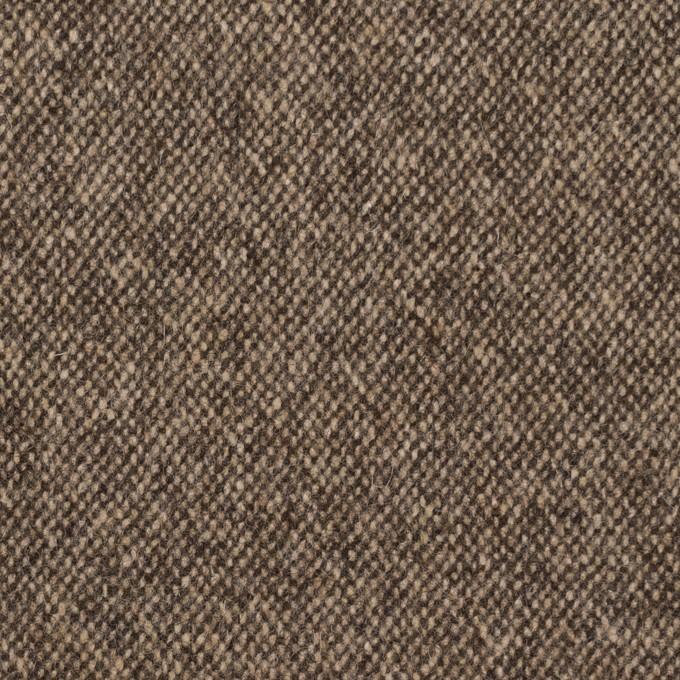 ウール&ポリエステル混×無地(キナリ&ブラウン)×ツイードストレッチ_全5色 イメージ1