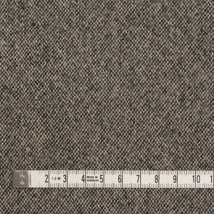 ウール&ポリエステル混×無地(キナリ&ブラック)×ツイードストレッチ_全5色 イメージ4