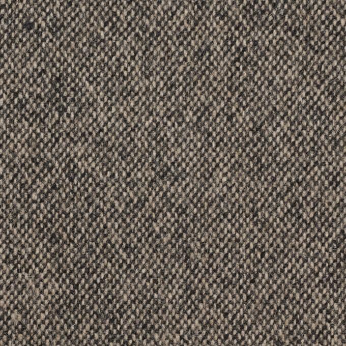 ウール&ポリエステル混×無地(キナリ&ブラック)×ツイードストレッチ_全5色 イメージ1