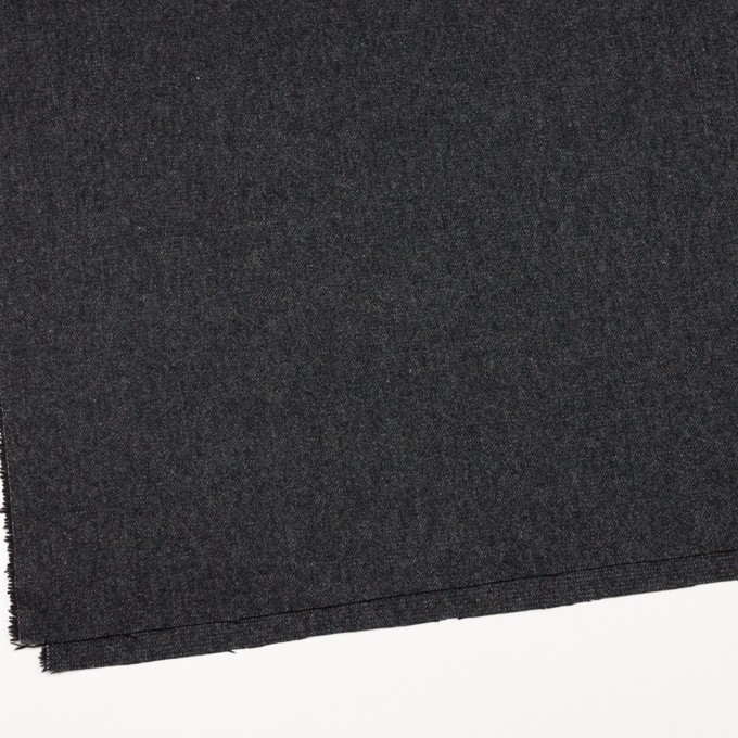 ウール&ポリエステル混×無地(チャコール&ブラック)×ツイードストレッチ_全5色 イメージ2