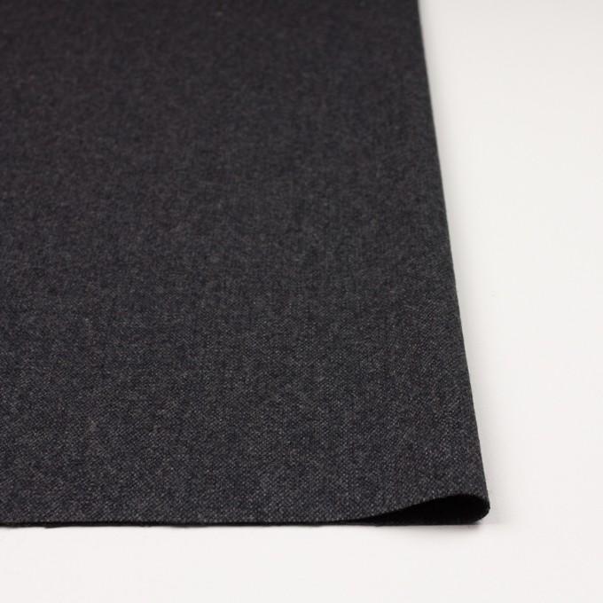 ウール&ポリエステル混×無地(チャコール&ブラック)×ツイードストレッチ_全5色 イメージ3