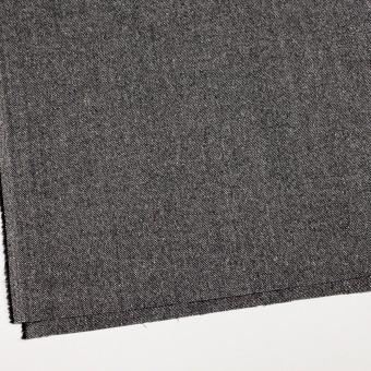 ウール&レーヨン混×無地(ブラック)×サージ_全2色 サムネイル2