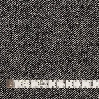 ウール&レーヨン混×無地(ブラック)×サージ_全2色 サムネイル4